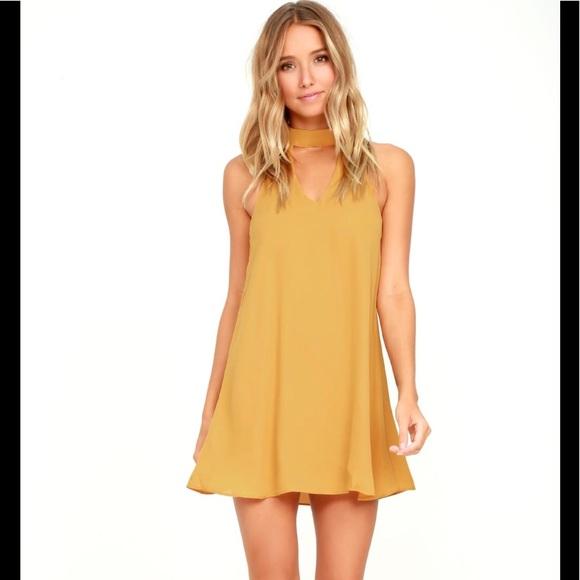 8c0a28047bae99 Lulu's Dresses | Lulus Groove Thing Golden Yellow Swing Dress | Poshmark
